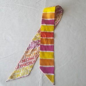 Coach pony/tie/scarf